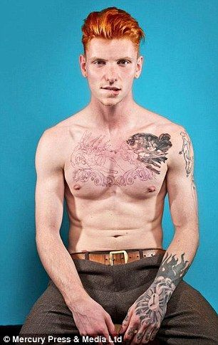 Can hot redhead male models