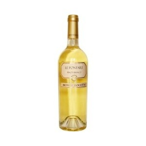 Le Pontare - A pale yellow wine with golden reflections and an elegant bouquet of delicate floral notes.  The taste is fresh and velvety soft. An aperitif wine, can be paired with all dishes except red meats. Perfect with fresh strawberries. Serve at 8°C. Alc: 12.7% - Comp: 100% Pinot Bianco - Shelf life: 3 to 5 years.