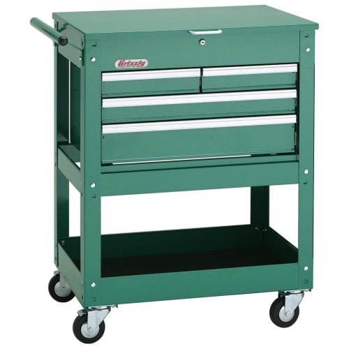 Grizzly H7728 Rolling Tool Cart w/ 4 Drawer Tool Chest: Home Improvement