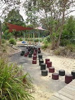 Blenheim Park - a compact park with dog exercise area, radio control dirt track, cycle track, nice play equipment, BBQ & picnic shelter.