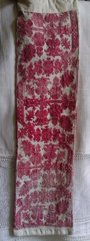 Embroidered mangle board holder from Transylvania