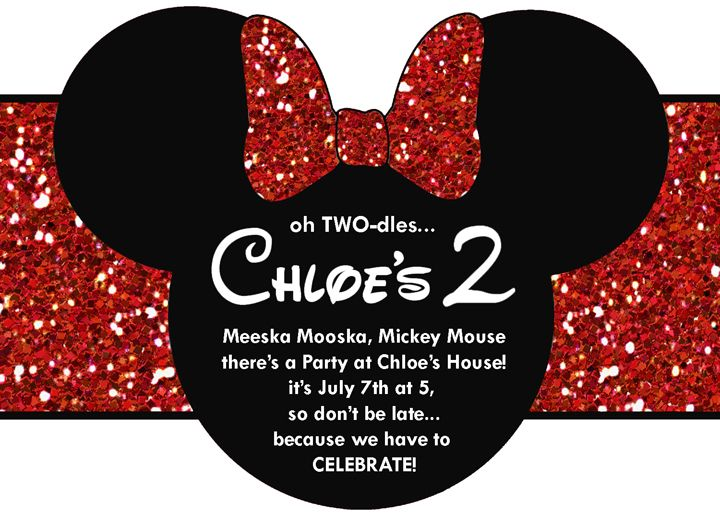 17 Best images about Mickey Minnie Mouse Party – Mickey and Minnie Party Invitations