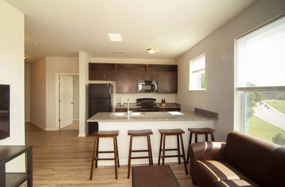 """Did you know all utilities are included in the lease rate (Electricity capped at $30/bedroom per month). Apartments are fully furnished, including a 48"""" flat screen TV in the living room, and each bedroom features its own private bathroom! #Clemson #Clemsonview #solidorange"""