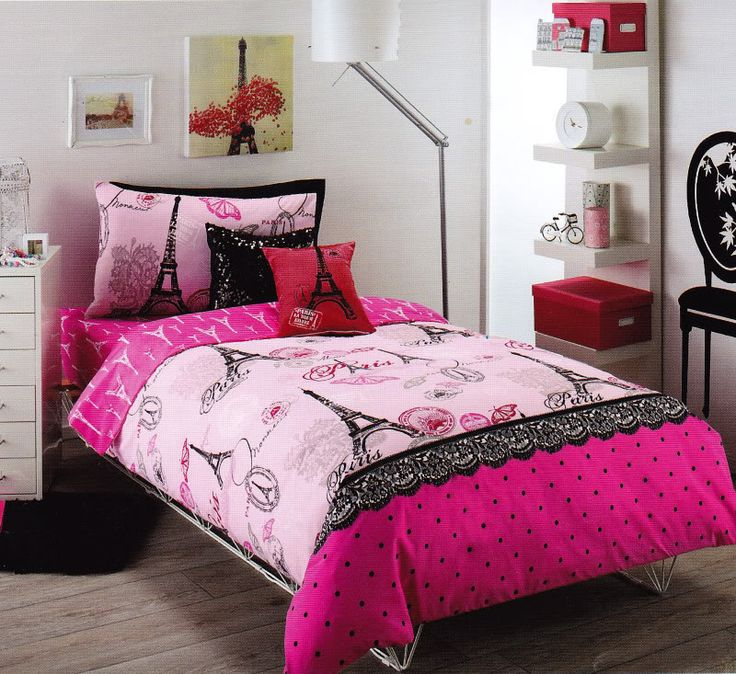 Paris Pink Red Black Queen Quilt Cover Set Fitted Sheet Cushions13 best Paris themed bedroom images on Pinterest   Paris themed  . Paris Bedroom Set. Home Design Ideas