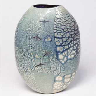 Mayfly Glass blown vessel by Darren J Petersen (Red Deer, AB). Member of the Alberta Craft Council.