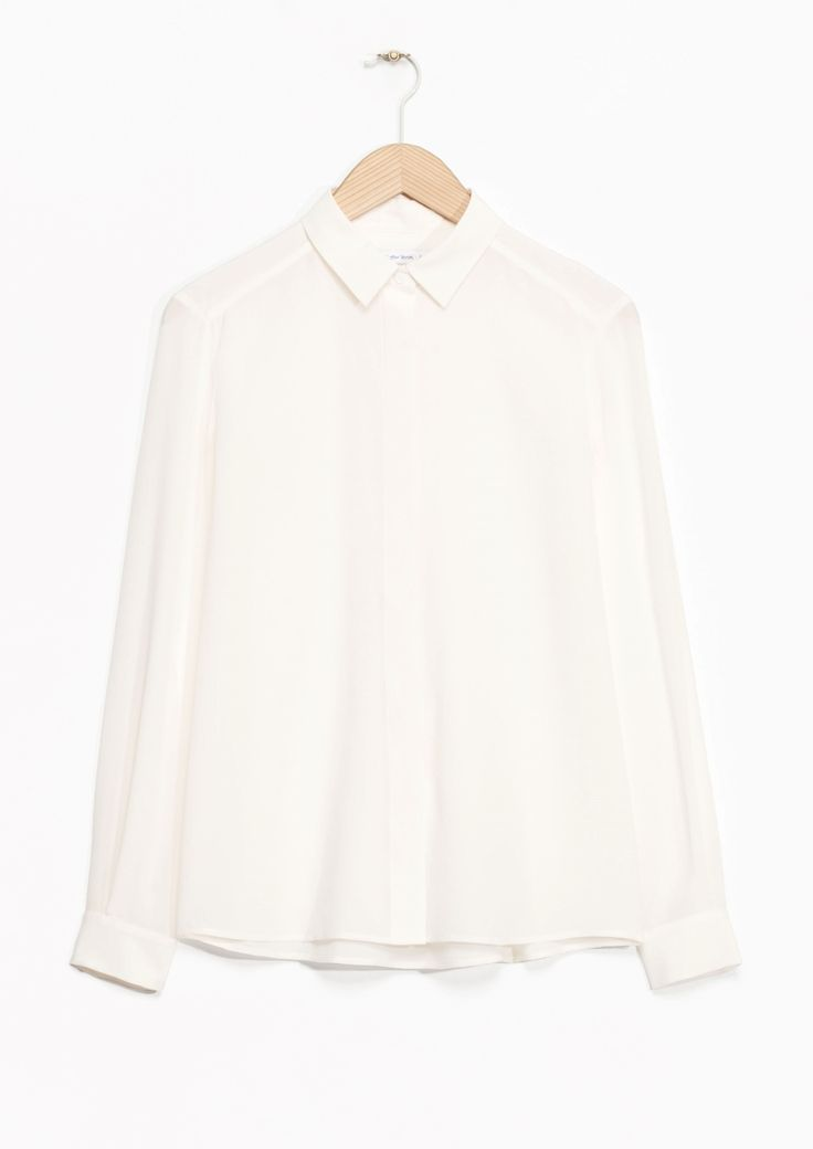 & Other Stories image 1 of Classic Silk Shirt in Off white