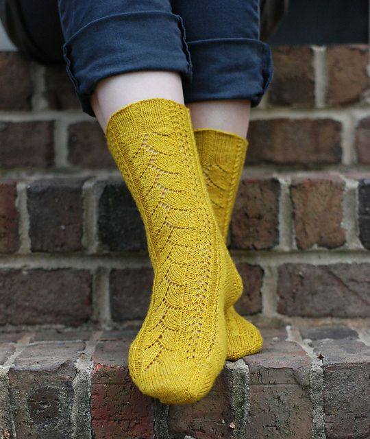 Ravelry: Merino Lace Socks pattern by Anne Woodbury