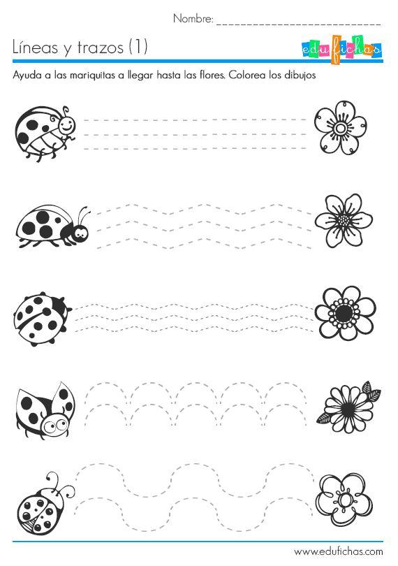 Líneas fáciles para repasar. #preescolar http://www.edufichas.com/actividades/recursos-educativos/trazos-lineas/repasar-lineas-faciles/