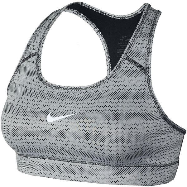 Nike Victory Compression Zig Dot Sports Bra ($35) ❤ liked on Polyvore featuring activewear, sports bras, nike sportswear, nike, nike sports bra, nike activewear and polka dot sports bra