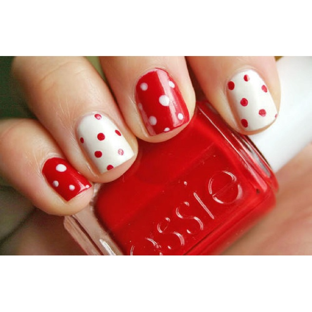 Cute Boomer Sooner nails :)