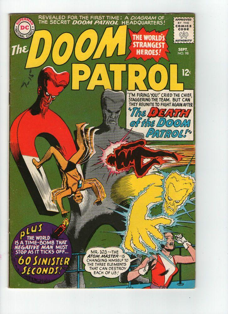 doom patrol covers silver age | Doom Patrol #98, DC Comics 1965, intro. Mr. 103, FN+ | eBay