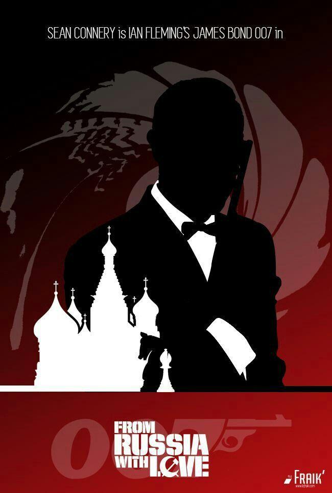 James Bond 2 Bons Baisers De Russie Avec Sean Connery James Bond James Bond Theme Bond Movies