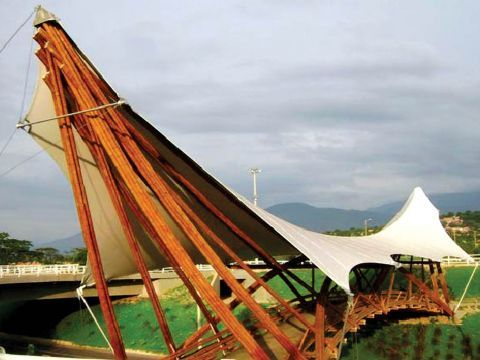 bamboo tensile structures - photo #6