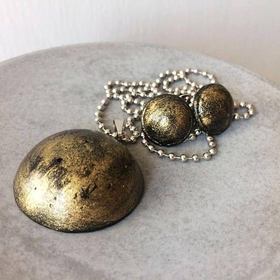 Hemisphere earrings  pendant  Industrial jewelry  CONCRETE