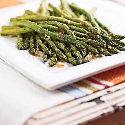 Roasted Asparagus with Balsamic Browned Butter - SERIOUSLY the BEST asparagus recipe - this is a family favorite.