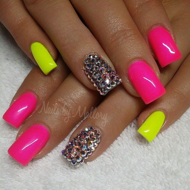 Best 25+ Neon nails ideas on Pinterest | Colorful nail ...