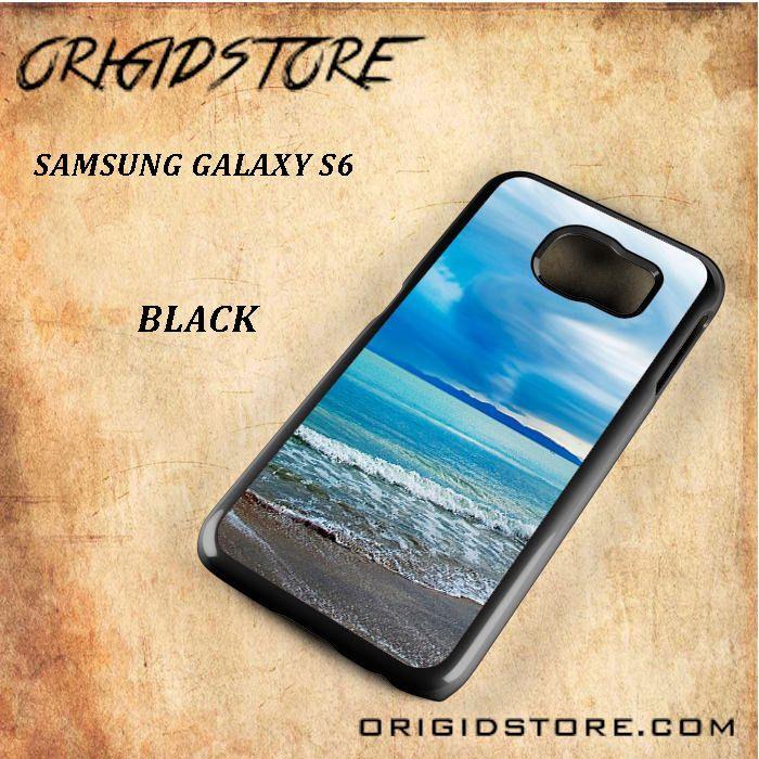 Spectacullar Beach Sky Black White Snap On 3D For Samsung Galaxy S6 Case