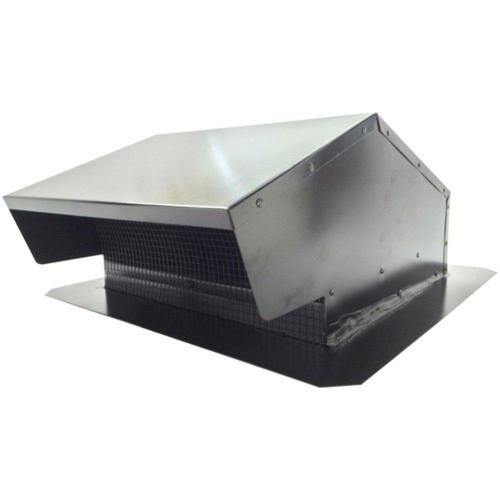 BUILDERS BEST 012634 Black Metal Roof Vent Cap (6-8 (3.25 x 10) Universal Flush)