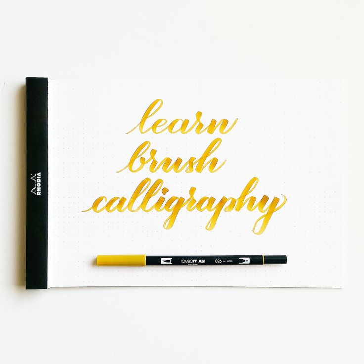 Get started with Brush calligraphy Wherever you are in your calligraphy journey, brush calligraphy is a great way for beginners to learn. The ink is already loaded and there are plenty of options t…