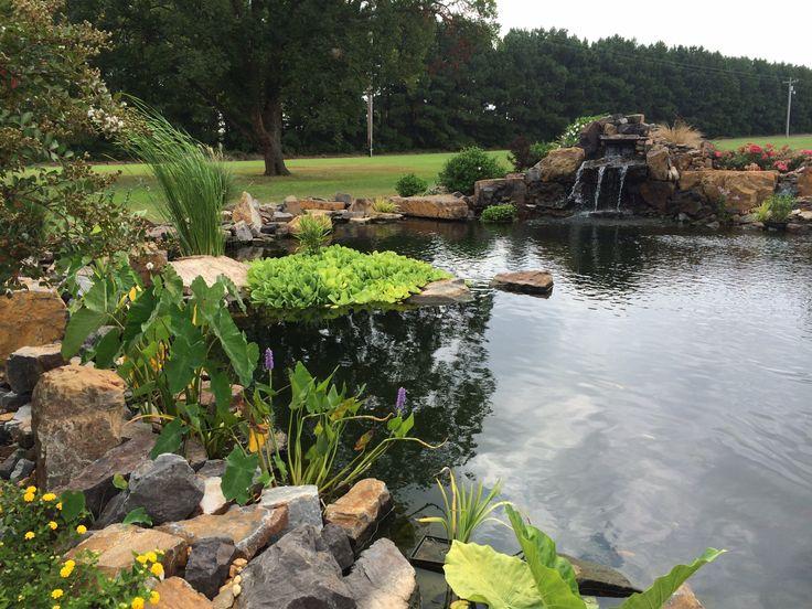 56 best garden pond images on pinterest garden art for Koi pond hiding places