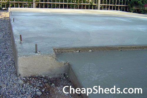 17 best ideas about concrete sheds on pinterest concrete for Raised foundation vs concrete slab