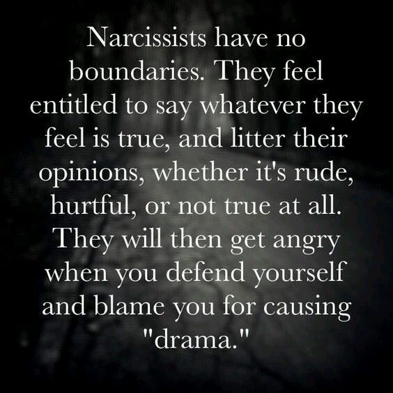 The narc will never stop stepping over your boundaries. For as long as allowed to they will continue to do so with utter contempt for your principles. The only way to stop them is to cut them out of the equation of your life. It can make the narcissist angry. That evil narc is beneath the level of contempt. Void of understanding and empathy. They just don't care who they step on and hurt in the process.