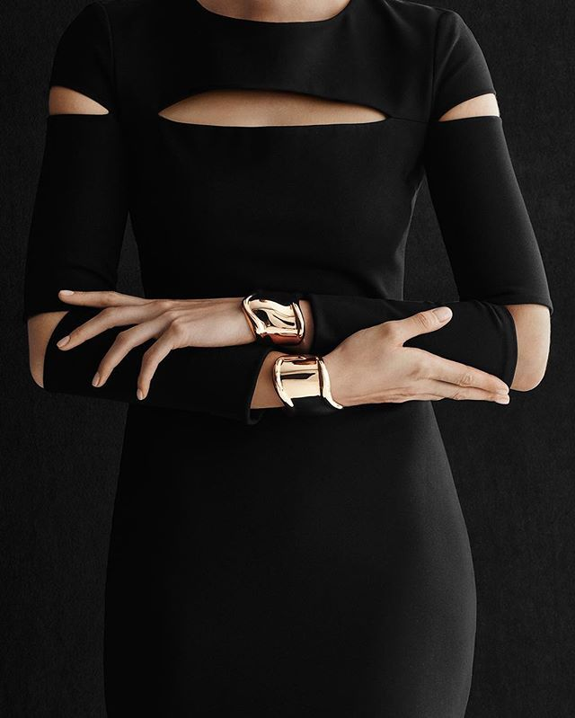 There are some days that call for a double. #ElsaPeretti Bone cuffs prove that less is not always more, especially when it comes to these sleek and sensual pieces. #Tiffany #TiffanyAndCo