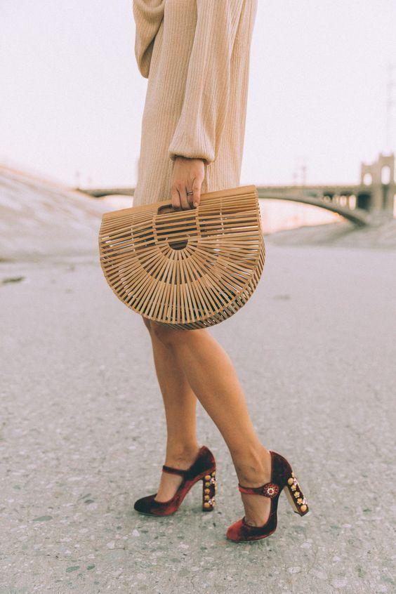 Bamboo Bag Marta Net Rattan Bags Pinterest Shoes Fashion