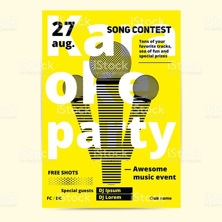 27 best Karaoke images on Pinterest Flyers, A professional and - fun poster templates