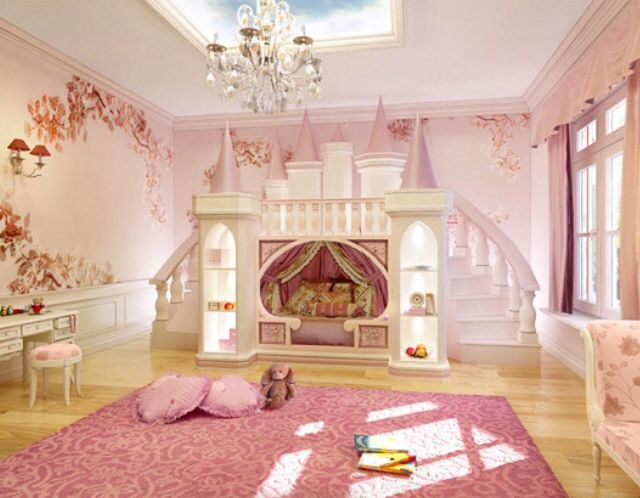 Girls Ultimate Princess Theme Room Castle Bed Kids By