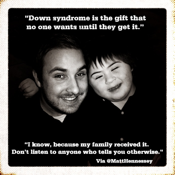 #DownSyndrome is a gift. That's right. A gift. (This is me and my little brother, Christian)