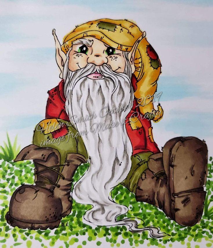 pinpam robinson on a christmas gnome card  christmas