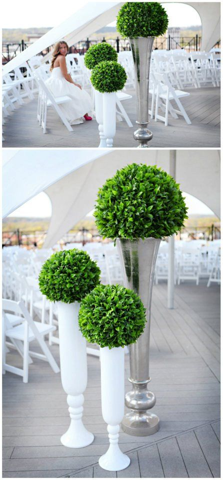 Love this topiary design  Create a very classic timeless look on your wedding day with some artificial topiary. We have a beautiful range of top quality topiary at great prices so have a browse for some more ideas and inspiration http://www.evergreendirect.co.uk/artificial_topiary
