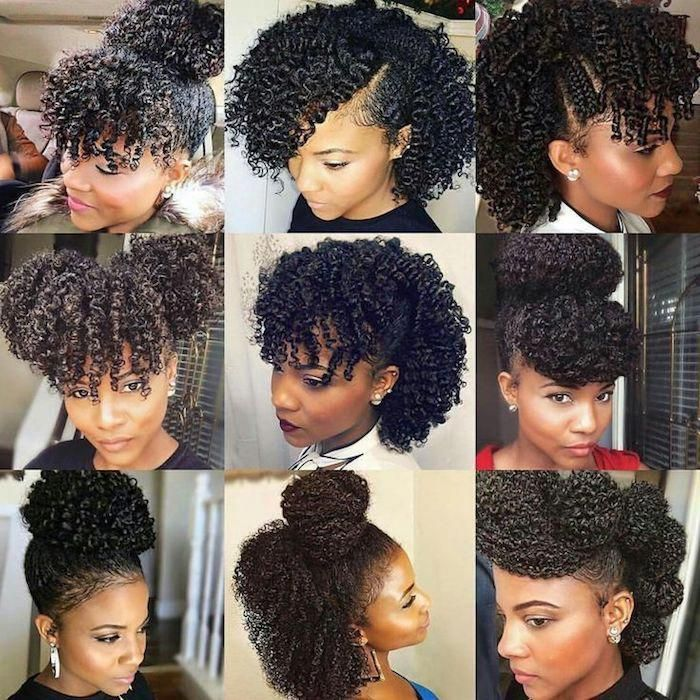Styling Afro Hair Nine Images Showing Different Hairdos Made From Natural Black Hair Topkn Curly Hair Styles Natural Hair Styles Curly Hair Styles Naturally