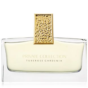 Private collection Tuberose Gardenia by Estée Lauder. The fragrance composition is based on two flowers that Estee Lauder appreciated most, gardenia and tuberose, surrounded by orange flower, jasmine and white lily. In the top notes are neroli, lilac, and rosewood, and the base is composed of carnation and vanilla bourbon. The perfume is created in line with the Aerin Lauder's conception by noses of Firmenich.