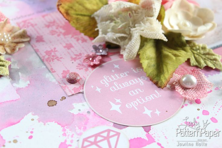 It's a PINK thing Layout - Glitter Sentiment