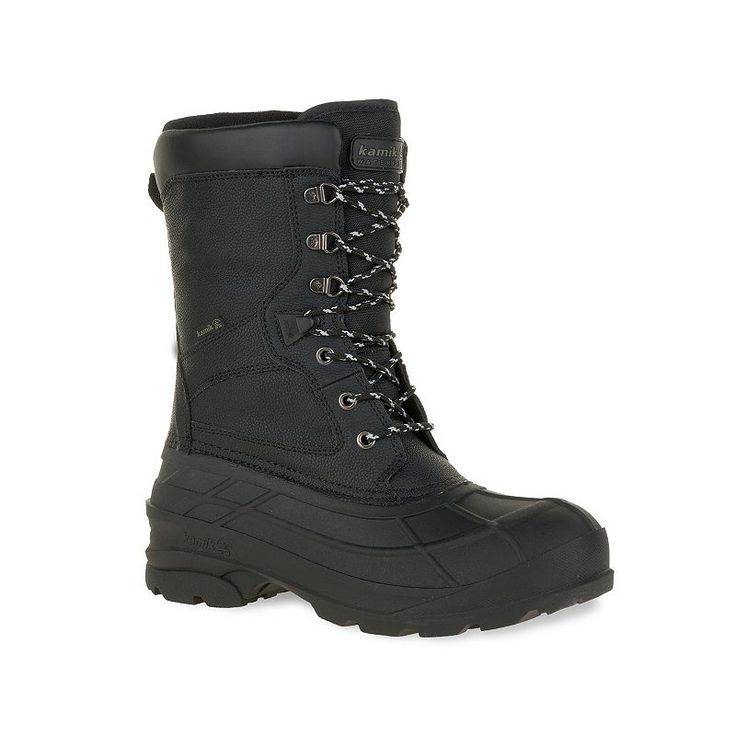 Kamik Nationpro Men's Waterproof Winter Boots, Size: 9, Black