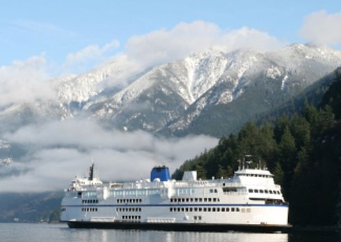 Ferry from Vancouver to Nanaimo(Vancouver Island), British Columbia, Canada