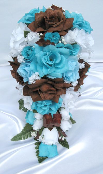 Brown and Turquoise Wedding Flowers   Please beware! Our original designs are repeatedly copied to the ...