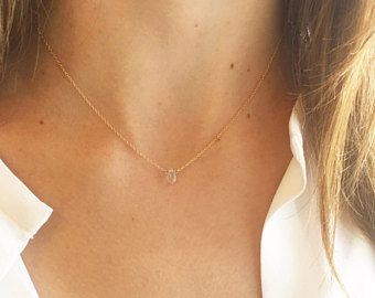 Eenvoudige gouden ketting, geboortesteen ketting, fijne ketting, sierlijke halsketting, 14k Gold Filled, Sterling Zilver, gelaagde ketting