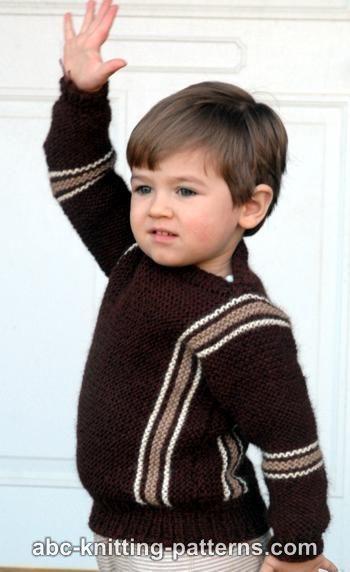 594fffe86 ABC Knitting Patterns - Easy Child s Garter Stitch Cuff-to-Cuff ...