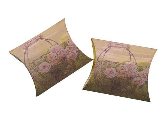 3x3 Rose Basket Printable Pillow Box Treat Box #Rose #Basket #Printable #Pillow #Treat #Box JustAnArtStore http://etsy.me/2kK1a2G via @Etsy