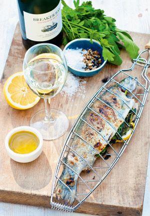 Gall & Gall Recepten   Forel gevuld met citroen en groene kruiden   &Bijpassende Wijn   www.Gall.nl
