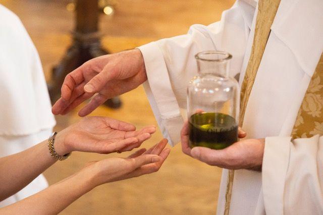 St. Dominic's Catholic Church: Anointing