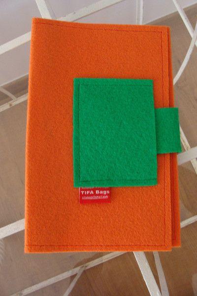 Orange+Book+cover+by+TIFA+Bags+from+TIFA+Bags+by+DaWanda.com