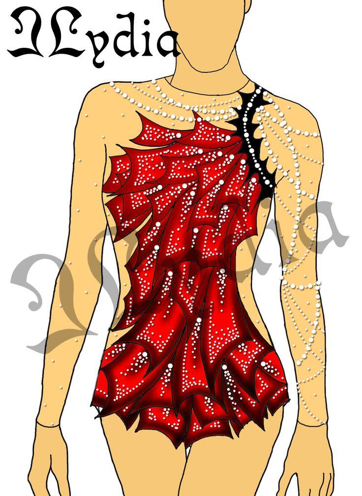 Competition Rhythmic gymnastic leotards Design Swing