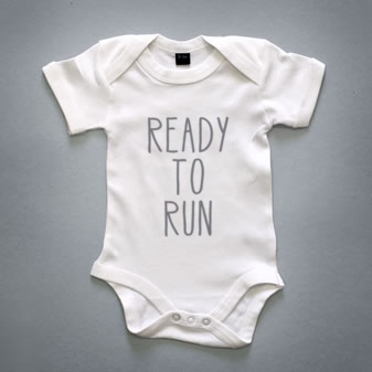 "Snapsuit ""Ready to run"" Unique gifts for babies available at www.bebefelizstore.com"