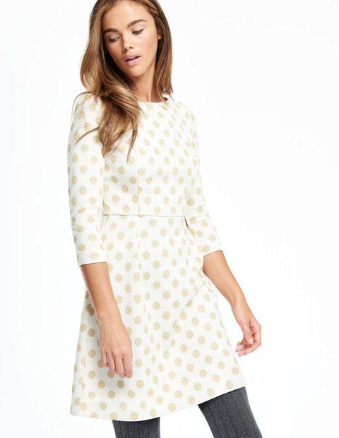 Sparkle Spot Jacquard Dress WH910 Day Dresses at Boden