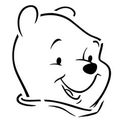 Pumpkin Carving Template - Winnie the Pooh