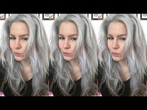 How To Dye Your Hair Grey/Silver at Home • Silver By Pravana |